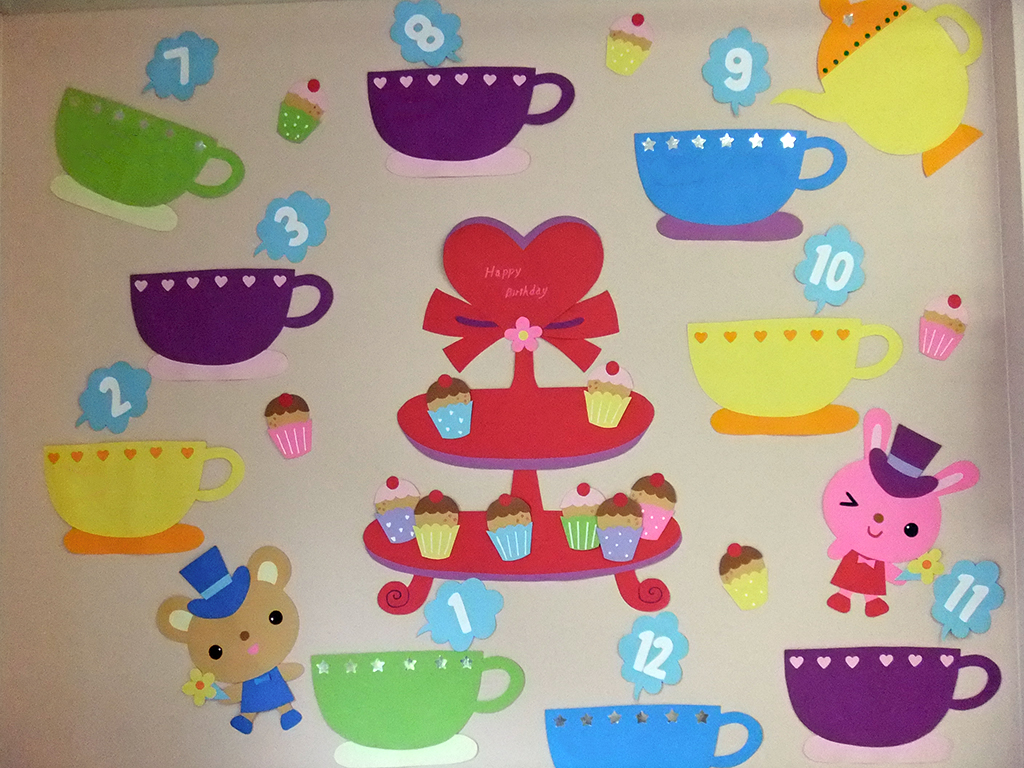 カップケーキの誕生表